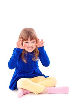 Funny Scaring Little Girl Royalty Free Stock Photo
