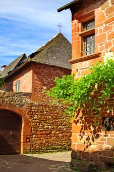 Free Old Traditional French House. Collonges La Rouge Royalty Free Stock Photography - 18886207