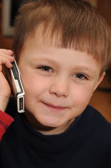 Free Child With Mobile Phone Stock Photography - 18887592