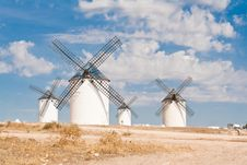 Windmills At Campo De Criptana Royalty Free Stock Image