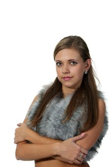 Free Woman In A Fur Top Royalty Free Stock Photo - 18888505