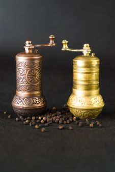 Free Vintage Still Life With Brass Pepper Mil Stock Photos - 18888673