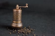 Free Vintage Still Life With Brass Pepper Mil Royalty Free Stock Image - 18888686