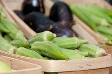 Fresh Organic Okra Royalty Free Stock Image