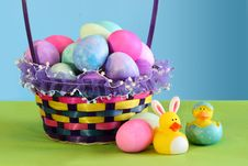 Free Colorful Easter Egg Basket Stock Photo - 18889410