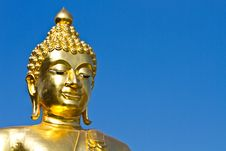 Free Golden Buddha Under The Open Sky Stock Images - 18890734
