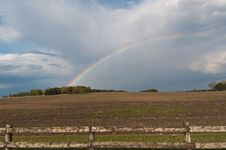 Free Rainbow Over A Farm Field Stock Photos - 18891173