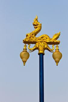 Free Thai Style Light Pillar Lantern Stock Photography - 18891492