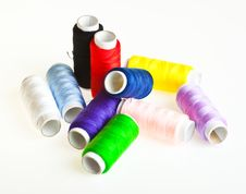 Free Colorful Sewing Threads Royalty Free Stock Images - 18892169