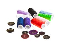 Free Colorful Sewing Threads Royalty Free Stock Photography - 18892217