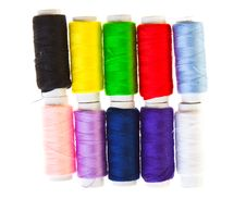 Free Colorful Sewing Threads Royalty Free Stock Photography - 18892227