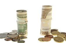 Free Euros And Dollars Stock Photography - 18892242