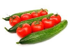 Free Tomatoes And Cucumbers Royalty Free Stock Images - 18892809