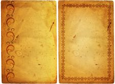 Free Old Paper With Floral Frame Royalty Free Stock Images - 18892969