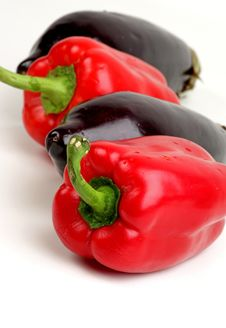 Free Eggplants And Peppers Stock Photos - 18892983