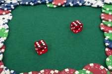 Free Dice And Chips Stock Image - 18893351