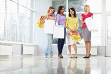 Free Happy Young Adults With Shopping Bags Stock Image - 18893631