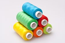 Colored Thread For Sewing Stock Photos