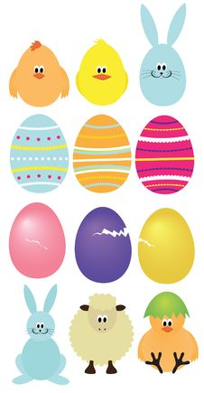 Set Of Easter Elements Stock Photo