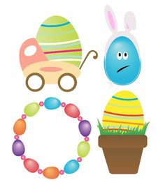 Free Cute Easter Elements Royalty Free Stock Photos - 18894518