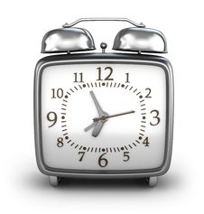 Free Alarm Clock. Front View Royalty Free Stock Photography - 18894737