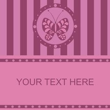 Free Cute Butterfly Frame Royalty Free Stock Photos - 18894748