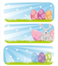 Colorful Easter Banners