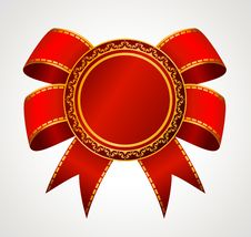 Red Bow Is A Isolated Royalty Free Stock Image