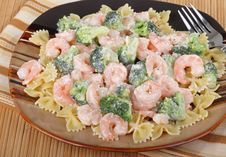 Shrimp Pasta Stock Image