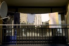 Free Laundry On Balcony Royalty Free Stock Photography - 18895317