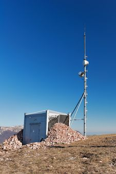 Antenna And A Container With Equipment Stock Image