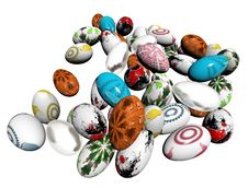 Free Dyed Easter Eggs Stock Images - 18895504