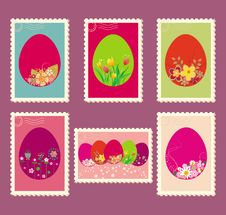 Free Easter Postage Stamps Royalty Free Stock Image - 18896196
