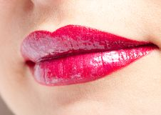 Free Smile Red Lips Close-up Stock Photography - 18896272