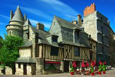 Traditional Architecture Of Le Mans, France Stock Image