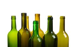 Free Top Of Empty Green Wine Bottle Isolated Stock Photos - 18896993
