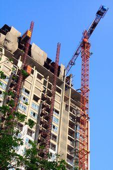 Free Condominium Apartment Construction Site In Bright Stock Photography - 18897022