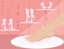 Shop Of Shoe Royalty Free Stock Photos