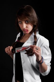 Crazy Nurse Stock Photography
