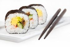 Free Japanese Sushi Ready To Eat Isolated Royalty Free Stock Image - 18897226