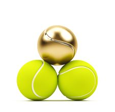 Free Tennis Balls On White Royalty Free Stock Image - 18897576