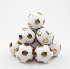 Free Golden Soccer Balls Stock Photography - 18897712