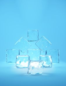 Free Ice Cubes Royalty Free Stock Image - 18897726