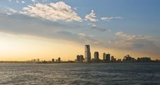 Free Jersey City Panorama During Sunset Royalty Free Stock Images - 18897879