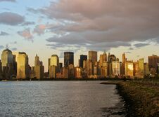 NYC Downtown, View From New Jersey Royalty Free Stock Photo