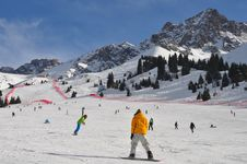 Free Skiing In Tien Shan Chimbulak Royalty Free Stock Photography - 18898037