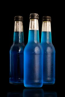 Free Blue Bottles. Royalty Free Stock Photography - 18898297
