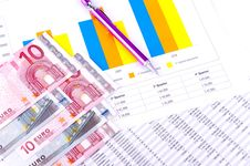 Free Financial Analysis With Charts. European Currency Royalty Free Stock Images - 18899169