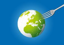 Free Globe Pick On Fork Royalty Free Stock Image - 18899306