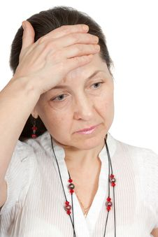 Free Headache Woman Stock Image - 18899421